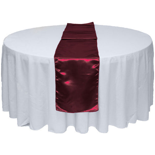 Burgundy Satin Table Runner 12