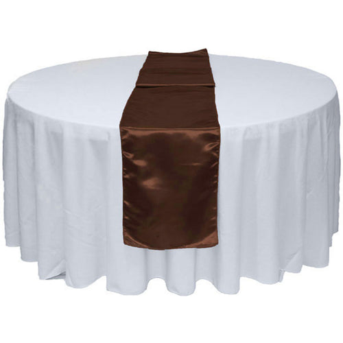 Chocolate Satin Table Runner 12