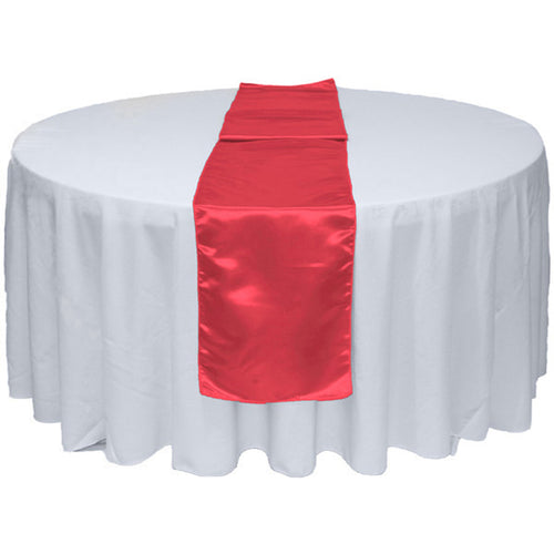 Coral Satin Table Runner 12