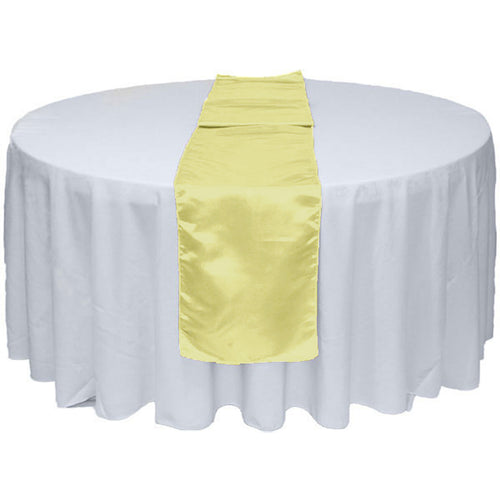 Ivory Satin Table Runner 12