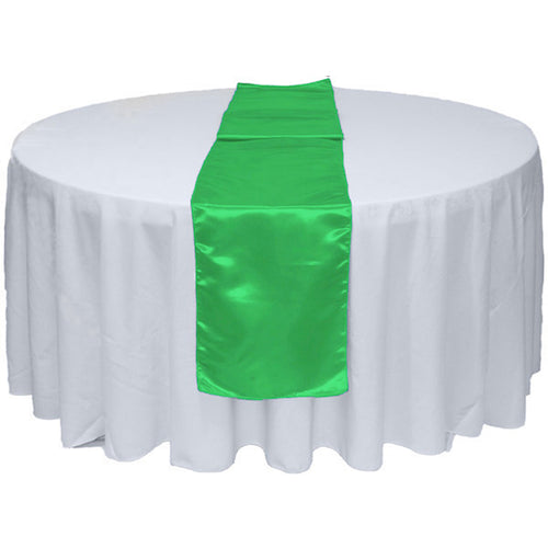 Kelly Green Satin Table Runner 12
