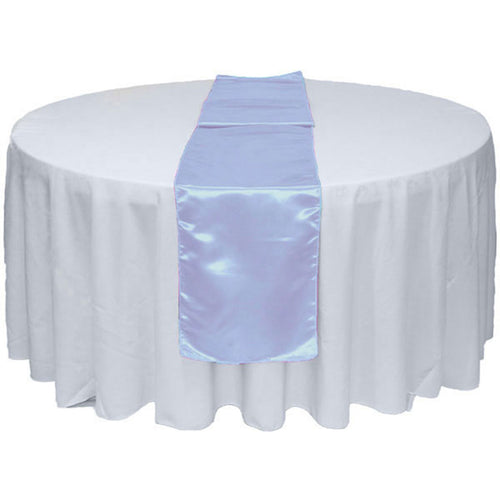 Light Blue Satin Table Runner 12