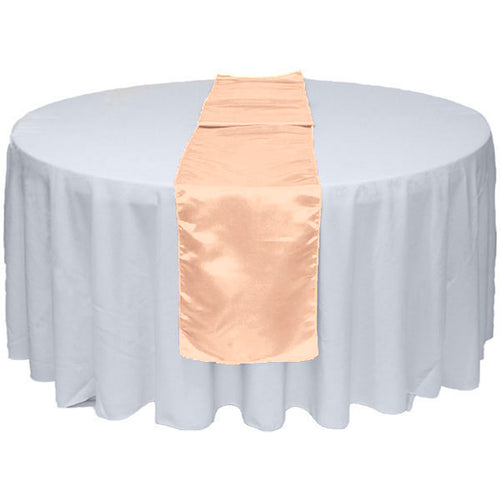 Peach Satin Table Runner 12