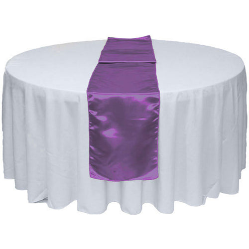 Purple Satin Table Runner 12