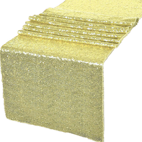 Champagne Glitz Sequin Table Runners 12