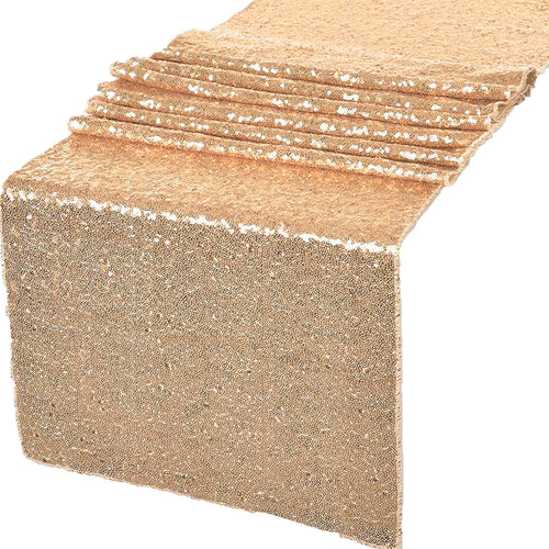 Rose Gold Glitz Sequin Table Runners 12