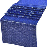 "Royal Blue Glitz Sequin Table Runners 12"" x 72"" for Wedding Party Banquet - GWLinens"