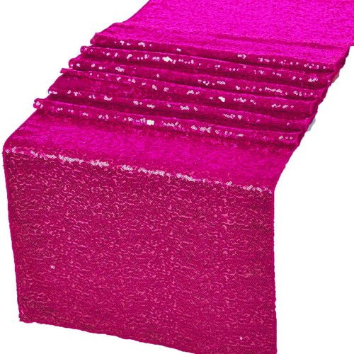Fuchsia Glitz Sequin Table Runners 12