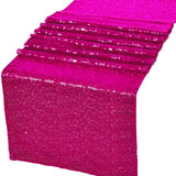 "Fuchsia Glitz Sequin Table Runners 12"" x 108"" for Wedding Party Banquet"