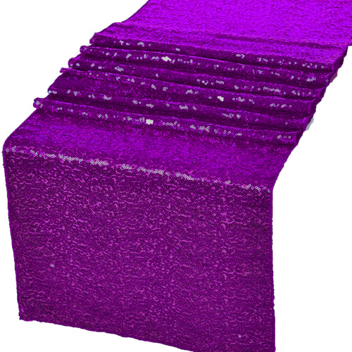 Purple Glitz Sequin Table Runners 12