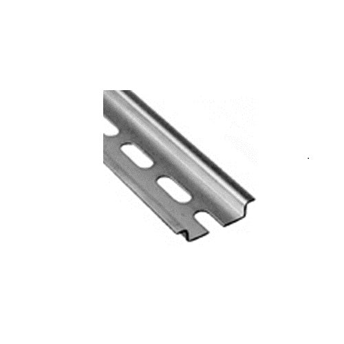 35 x 7.5 x 1mm Punched Mounting DIN Rail, 1 Meter Long - 111.020