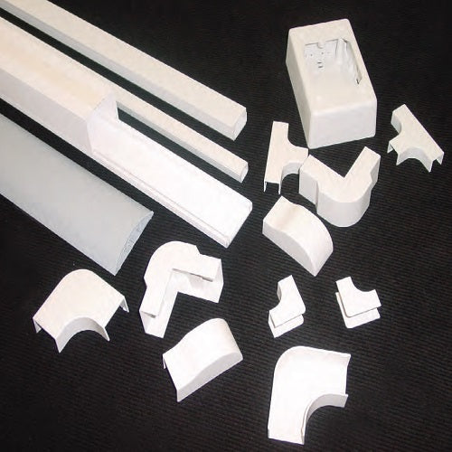 "1-1/4"" Wide Raceway Drop Ceiling End (Off White) - SD 1250 DCEWH"