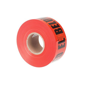 "3"" x 1000' Red Tape ""Caution Buried Electric Line Below"" - ULT-327"
