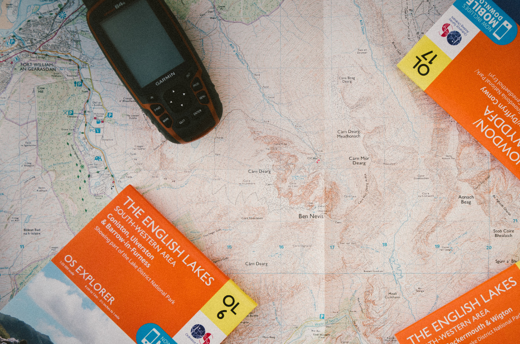 map with garmin gps device