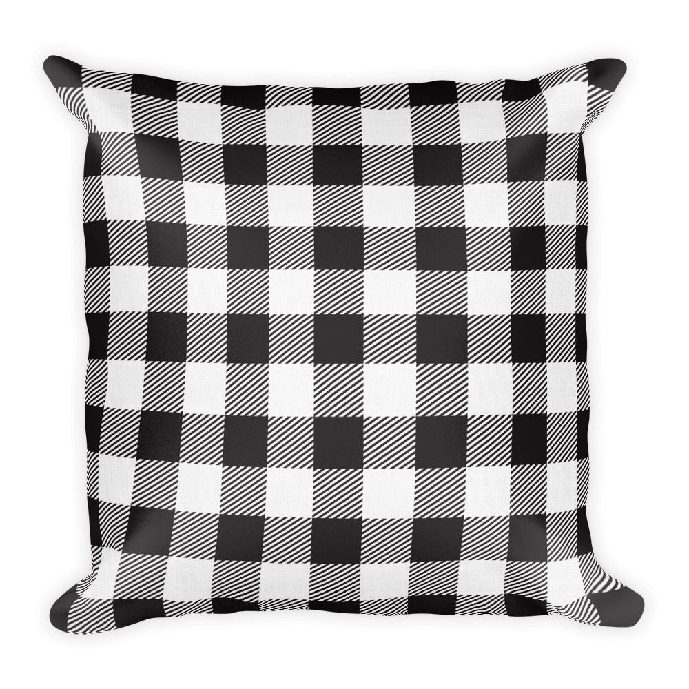 Black & White Plaid Pillow