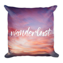 """Wanderlust"" Sunset Pillow"