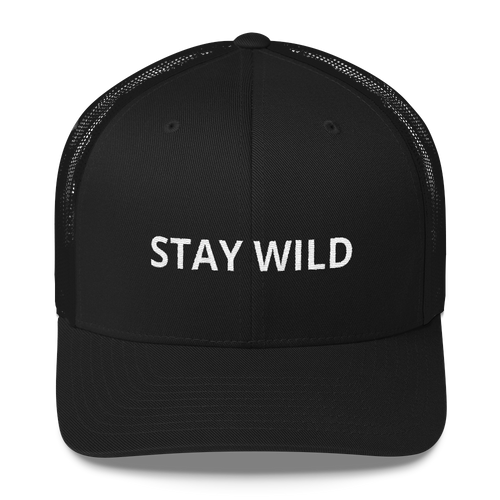 Stay Wild Retro Trucker Cap
