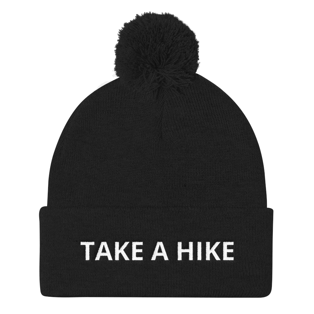 Take A Hike Pom Pom Beanie