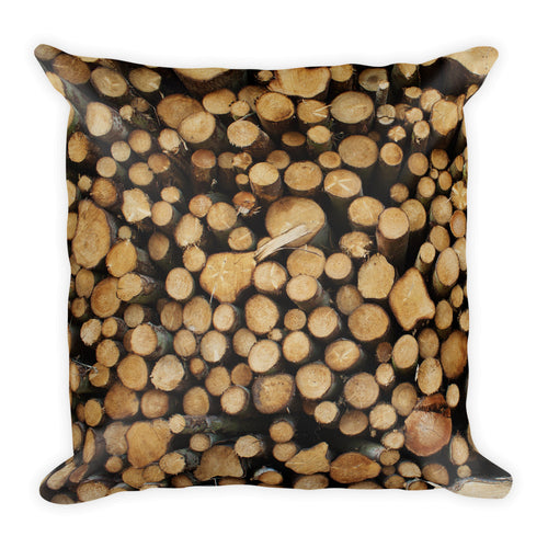 Wood Slices Pillow