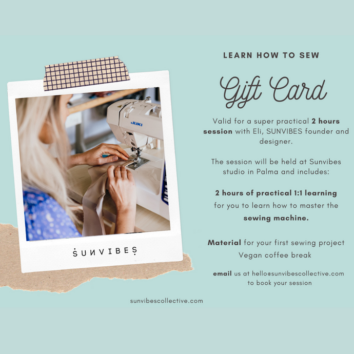 GIFT CARD - LEARN HOW TO SEW - 2 hours
