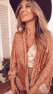 Free Spirit Kimono in Copper, all over pattern