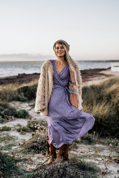 The Fairy Boho dress in Lilac Shell