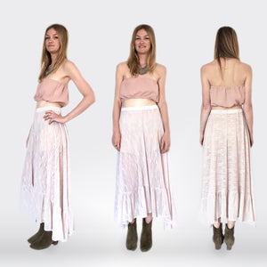 Gypset maxi-skirt in Pink lace