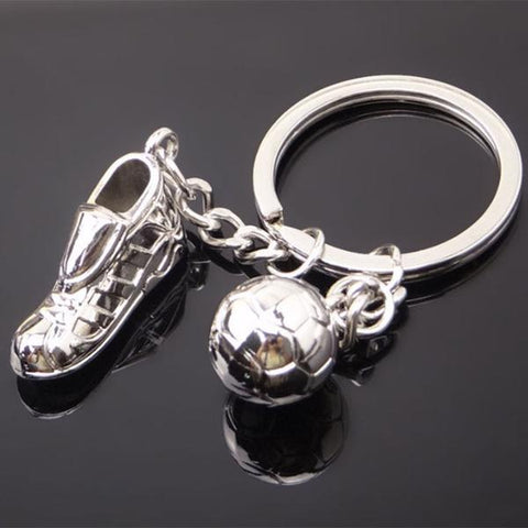 Soccer Shoe and Ball Keychain