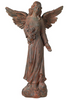 "Image of English Tudor Angel Outdoor Statue 41 1/2"" High Sculpture for Yard Garden Patio Deck Home Entryway Hallway Brand: Kensington Hill"