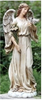 "Image of Angel with Dove Statue, 24.5"" High Resin and Stone"