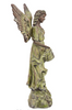 "Image of Rustic Outdoor Statue Bird Bath 31"" High Outstretched Wing Angel for Yard Garden Patio Deck Home"