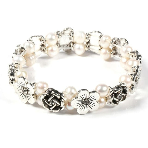 100% Natural Freshwater 6-7 mm Pearl Bracelet Flower High Quality Pearl bracelets for women