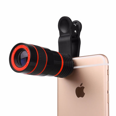 Powstro 8X Zoom Phone Telephoto Camera Lens Special Design with Clip Mobile Phone Lens for iPhone Samsung HTC Smart Phone