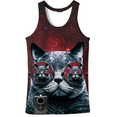 SUNGLASS CAT 3D TANK