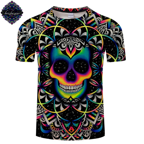 3D Colorful Skull T-Shirt