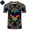 Image of 3D Colorful Skull T-Shirt