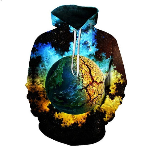 3D Earth or Tree Hoodie