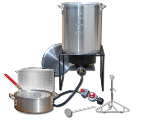 Propane Outdoor Fry Boil Package with 2 Pots