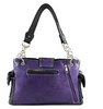 Image of Western Purple Purse Floral Buckle Concealed Carry Handbag