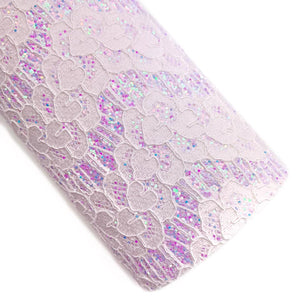 Lilac Darling Lace Overlay Glitter