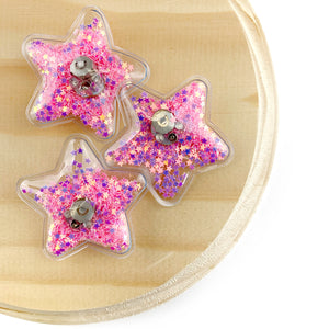 Pink Light Up Star Shaker Appliques