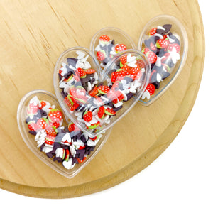 Chocolate Covered Strawberries Heart Shaker Appliques