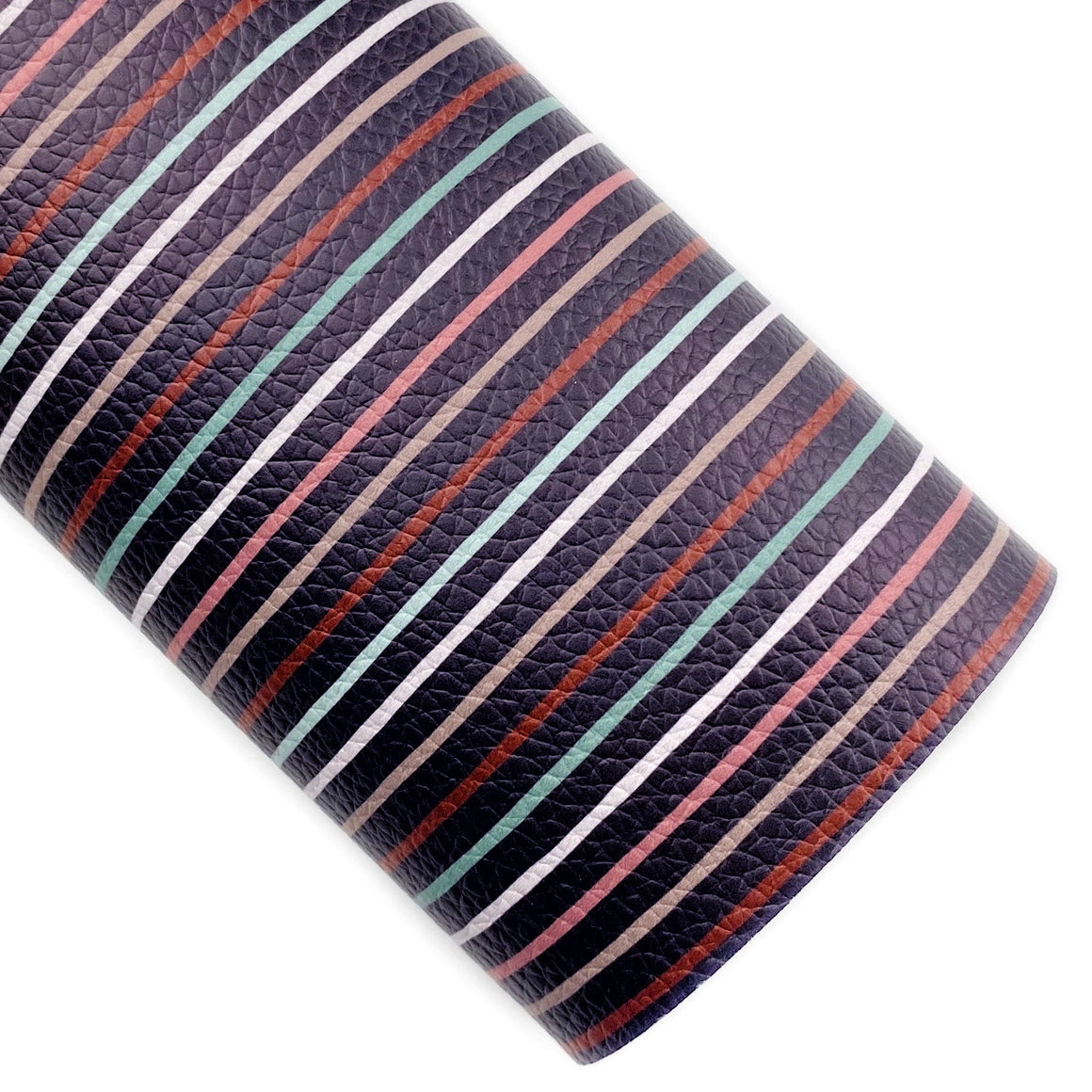 Vintage Stripes Vegan Leather