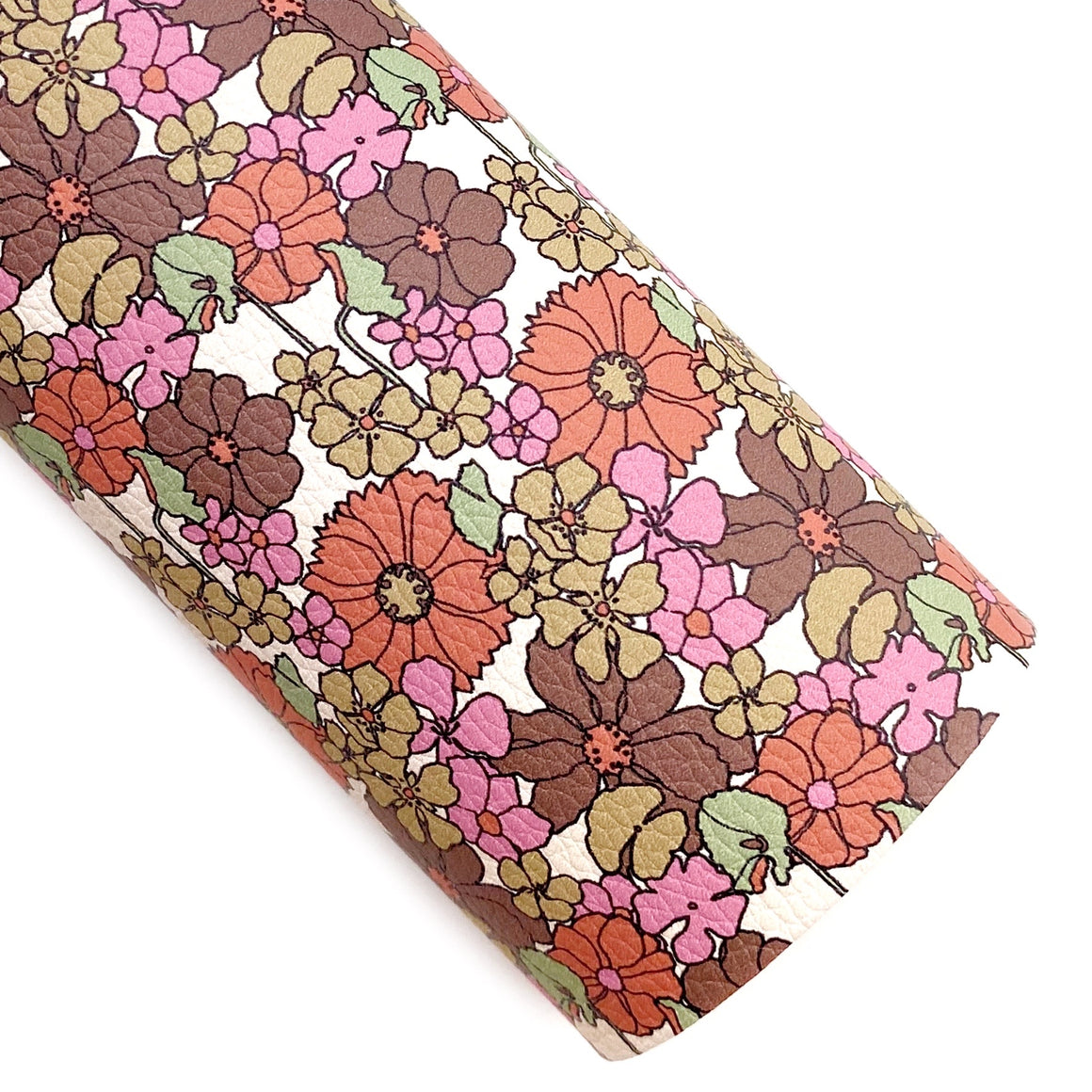 Classic Vintage Vibes Floral Vegan Leather