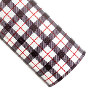 Modern Christmas Plaid Vegan Leather