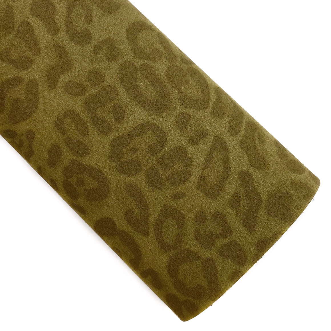 Willow Leopard Suede Vegan Leather