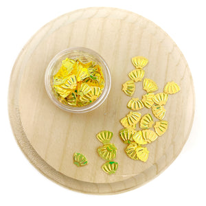 Yellow Seashell Sequins Confetti Pieces