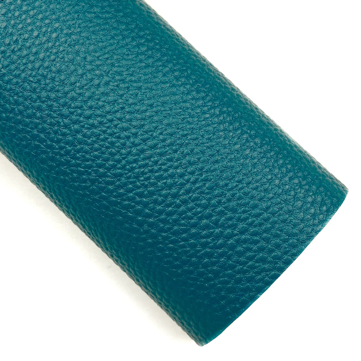 Deepest Teal Pebbled Vegan Leather