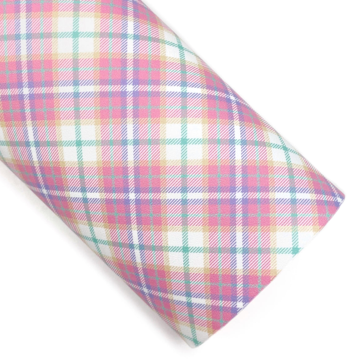 Easter Plaid Vegan Leather