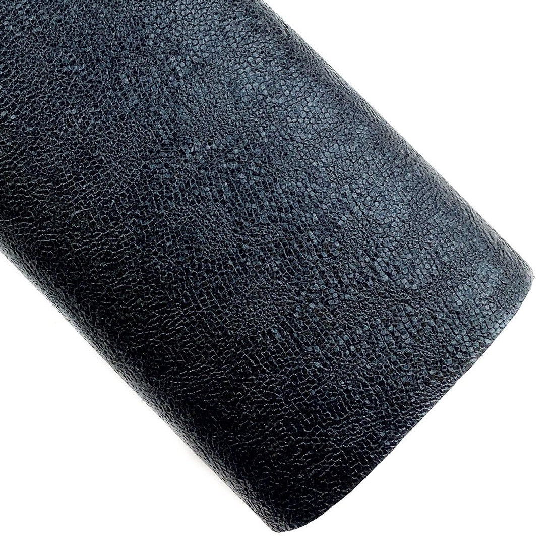 Black Royal Metallic Embossed Vegan Leather